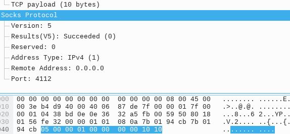 SOCKS 5 TCP CONNECT 指令请求 - 应答报文